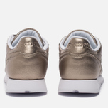 Женские кроссовки Reebok Classic Leather Lux Pearl Met-Grey Gold/White фото- 3