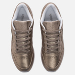 Женские кроссовки Reebok Classic Leather Lux Pearl Met-Grey Gold/White фото- 4