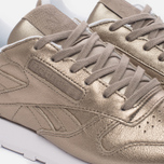 Женские кроссовки Reebok Classic Leather Lux Pearl Met-Grey Gold/White фото- 5