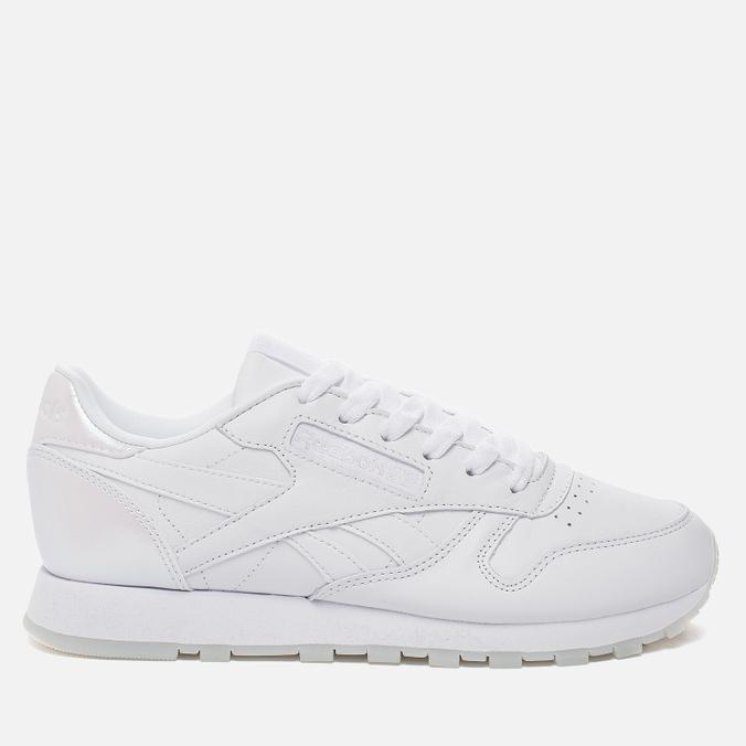 Женские кроссовки Reebok Classic Leather Lux White/White/Ice