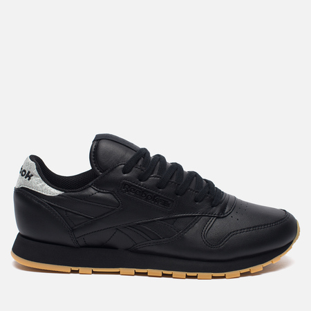 Женские кроссовки Reebok Classic Leather Met Diamond Black/Gum
