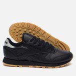 Женские кроссовки Reebok Classic Leather Met Diamond Black/Gum фото- 1