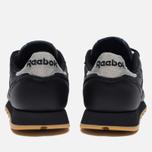 Женские кроссовки Reebok Classic Leather Met Diamond Black/Gum фото- 3