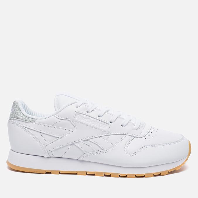Женские кроссовки Reebok Classic Leather Met Diamond White/Gum