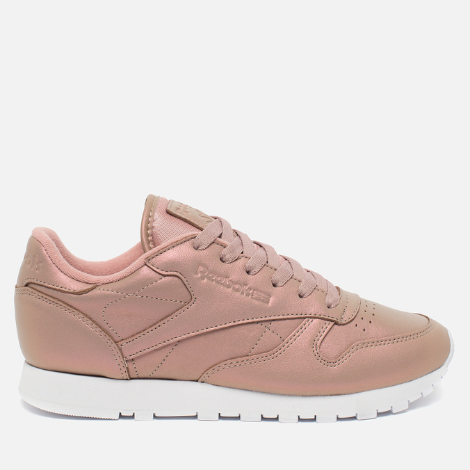 Женские кроссовки Reebok Classic Leather Pearlized Rose Gold/White