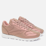 Женские кроссовки Reebok Classic Leather Pearlized Rose Gold/White фото- 1