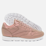 Женские кроссовки Reebok Classic Leather Pearlized Rose Gold/White фото- 2