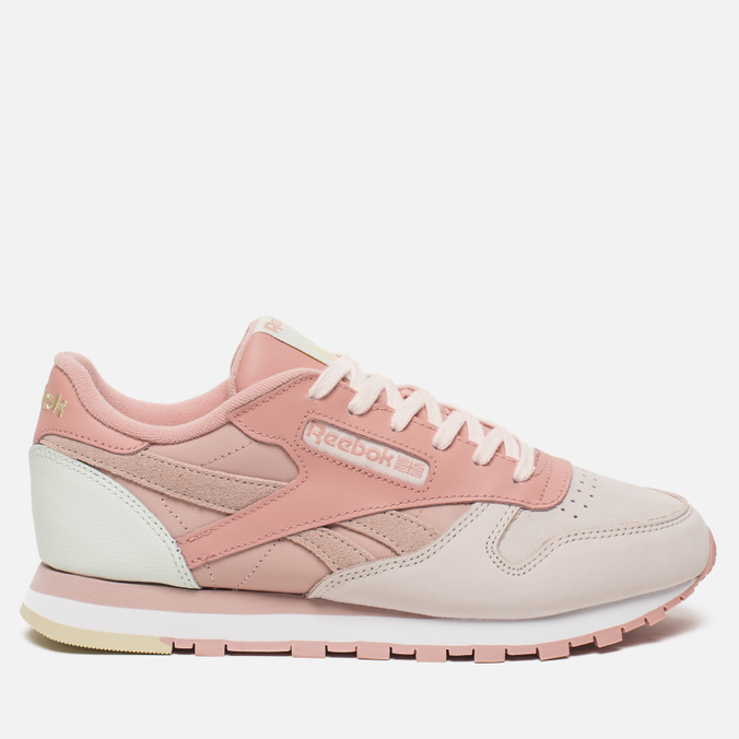 f666f4c36163 Женские кроссовки Reebok Classic Leather PM Pale Pink Shell Pink Chalk  Pink Opal ...