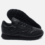 Женские кроссовки Reebok Classic Leather Quilted Pack Black/White фото- 2