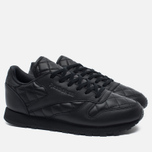 Женские кроссовки Reebok Classic Leather Quilted Pack Black/White фото- 1