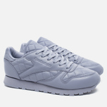 Reebok Classic Leather Quilted Pack Women's Sneakers Purple Fog/White photo- 1
