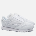 Женские кроссовки Reebok Classic Leather Quilted Pack White фото- 1
