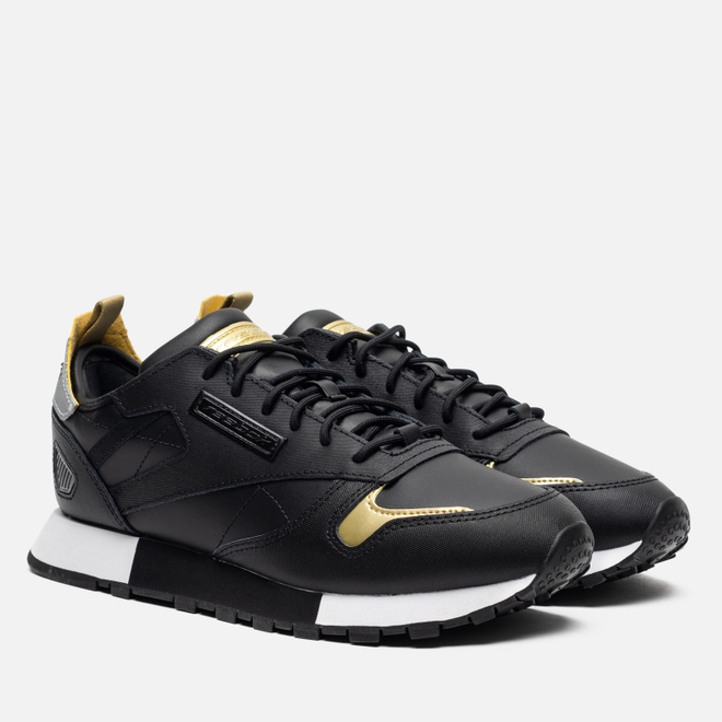 Женские кроссовки Reebok Classic Leather REE:DUX Black/White/Silver Metallic
