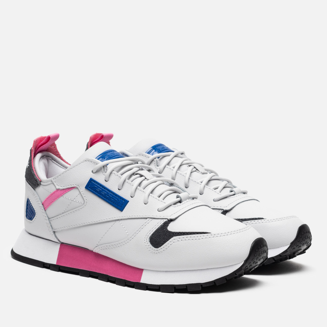 Женские кроссовки Reebok Classic Leather REE:DUX Porcelain/Posh Pink/Humble Blue