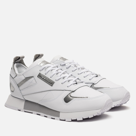 Женские кроссовки Reebok Classic Leather REE:DUX White/Cold Grey/Silver Metallic