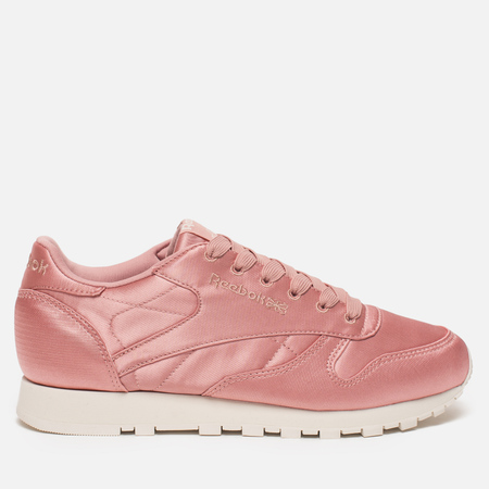 Женские кроссовки Reebok Classic Leather Satin Chalk Pink/Classic White
