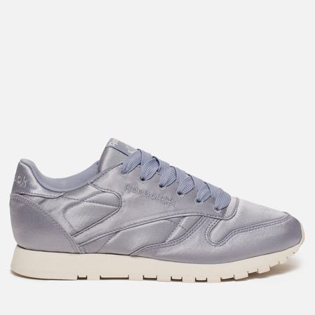 Женские кроссовки Reebok Classic Leather Satin Purple Fog/Classic White