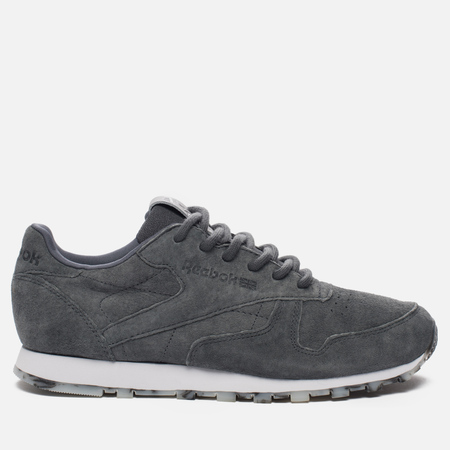 Женские кроссовки Reebok Classic Leather SHMR Alloy/White/Pewter
