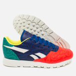 Женские кроссовки Reebok Classic Leather Snake Red/Royal/Green/White фото- 2