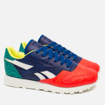 Женские кроссовки Reebok Classic Leather Snake Red/Royal/Green/White фото- 1