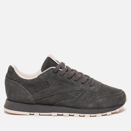 Женские кроссовки Reebok Classic Leather Tonal Nubuk Ash Grey/Pale Pink