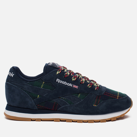 Женские кроссовки Reebok Classic Leather UK Roots Collegiate Navy/Flash Red/White/Gum