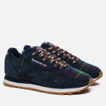 Женские кроссовки Reebok Classic Leather UK Roots Collegiate Navy/Flash Red/White/Gum фото- 1