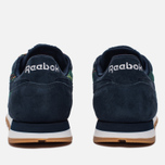 Женские кроссовки Reebok Classic Leather UK Roots Collegiate Navy/Flash Red/White/Gum фото- 3