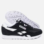 Reebok Classic Nylon Women's Sneakers Black/White photo- 2