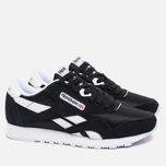 Reebok Classic Nylon Women's Sneakers Black/White photo- 1