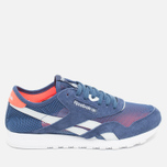 Женские кроссовки Reebok Classic Nylon See Through Midnight Blue/Reflection Blur/Atomic Red фото- 0
