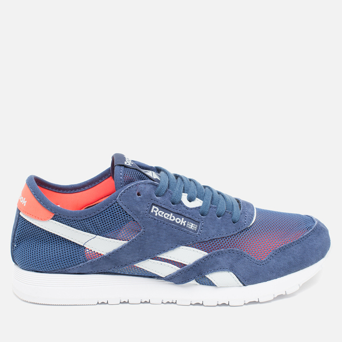Женские кроссовки Reebok Classic Nylon See Through Midnight Blue/Reflection Blur/Atomic Red