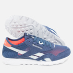 Женские кроссовки Reebok Classic Nylon See Through Midnight Blue/Reflection Blur/Atomic Red фото- 2