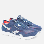 Женские кроссовки Reebok Classic Nylon See Through Midnight Blue/Reflection Blur/Atomic Red фото- 1