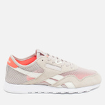 Женские кроссовки Reebok Classic Nylon See Through Sand Stone/Chalk/Atomic Red фото- 0