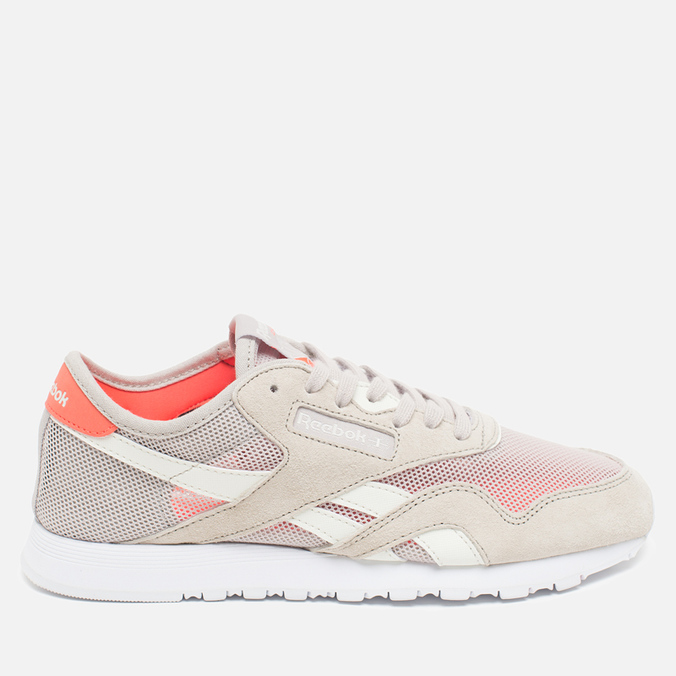 Женские кроссовки Reebok Classic Nylon See Through Sand Stone/Chalk/Atomic Red