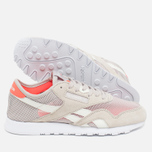 Женские кроссовки Reebok Classic Nylon See Through Sand Stone/Chalk/Atomic Red фото- 2