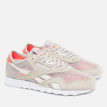 Женские кроссовки Reebok Classic Nylon See Through Sand Stone/Chalk/Atomic Red фото- 1