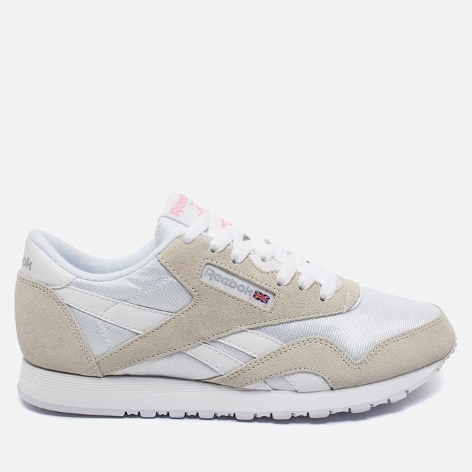 Женские кроссовки Reebok Classic Nylon White/Light Grey