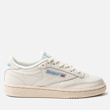 Женские кроссовки Reebok Club C 85 Vintage Chalk/Paperwhite/Athletic Blue/Excellent Red фото- 3