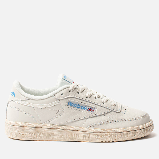 Женские кроссовки Reebok Club C 85 Vintage Chalk/Paperwhite/Athletic Blue/Excellent Red