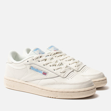 Женские кроссовки Reebok Club C 85 Vintage Chalk/Paperwhite/Athletic Blue/Excellent Red фото- 0