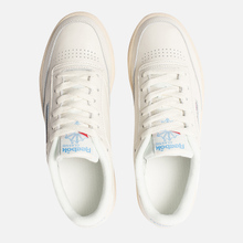Женские кроссовки Reebok Club C 85 Vintage Chalk/Paperwhite/Athletic Blue/Excellent Red фото- 1