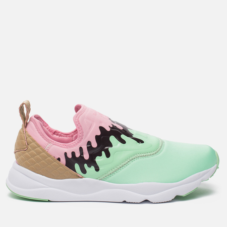 Женские кроссовки Reebok Furylite Slip-On IC Mint Green/Light Pink/White/Dark Brown