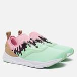 Женские кроссовки Reebok Furylite Slip-On IC Mint Green/Light Pink/White/Dark Brown фото- 1