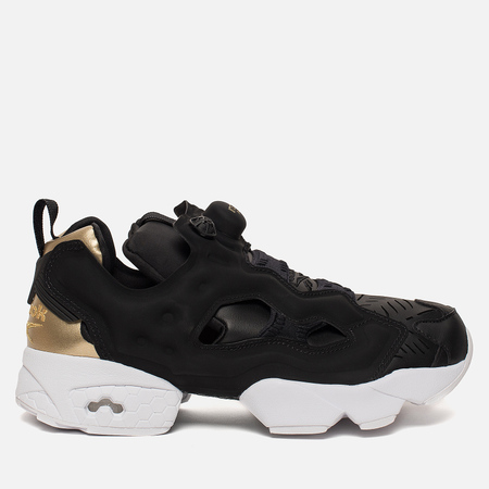 Женские кроссовки Reebok Instapump Fury Cuto Black/Gold Metallic/White