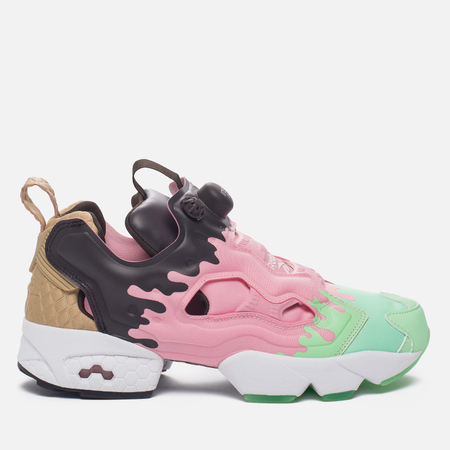 Женские кроссовки Reebok Instapump Fury IC Mint Green/Light Pink/Dark Brown/White/Cafe