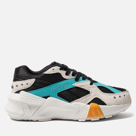 Женские кроссовки Reebok x Gigi Hadid Aztrek Double 93 Black/Blue/Grey/Gold
