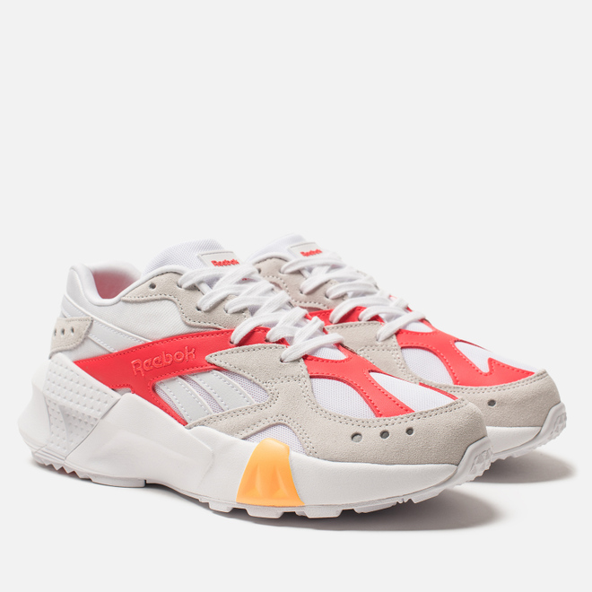 Женские кроссовки Reebok x Gigi Hadid Aztrek Double 93 White/True Grey/Red/Gold
