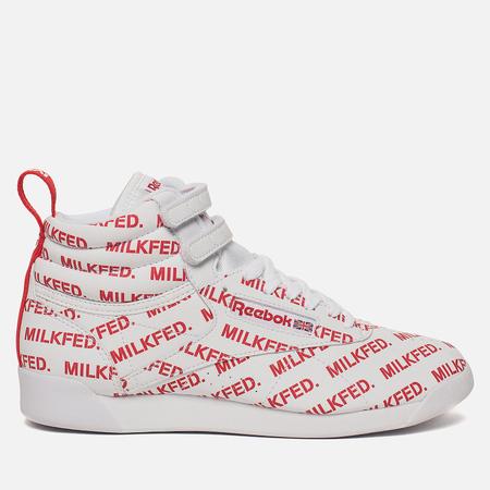 Женские кроссовки Reebok x Milkfed Freestyle High White/Primal Red